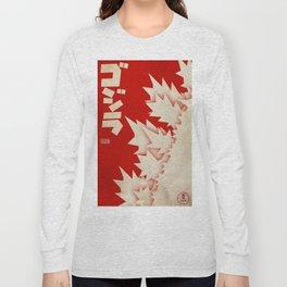 Godzilla Movie Poster Long Sleeve T-shirt
