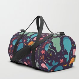 Sea creatures 001 Duffle Bag