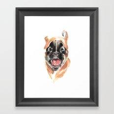 Boxer Puppy Framed Art Print