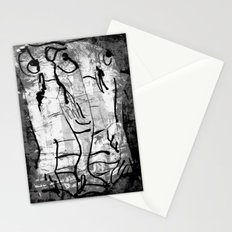 blank & white fishes Stationery Cards