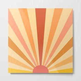 retro sunshine Metal Print