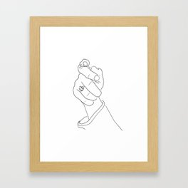 Alas, poor Sparrow! | Black on White Framed Art Print