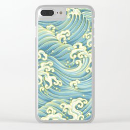 Wave Pattern Clear iPhone Case