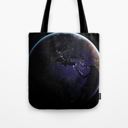 The Earth at Night 1 Tote Bag