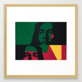 Rasta God Framed Art Print