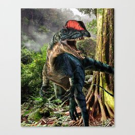 The world of dinosaurs Canvas Print