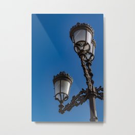 Old iron lamp with three heads Metal Print