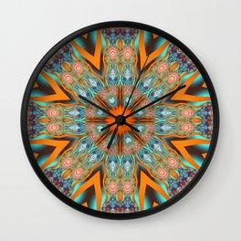 Star shape kaleidoscope with playful patterns Wall Clock