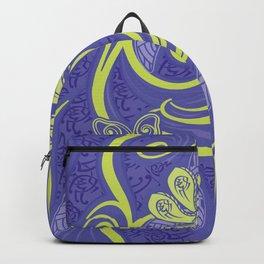 Polynesian Kiwi Lime Tropcal Floral Backpack