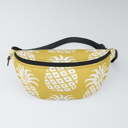 Retro Mid Century Modern Pineapple Pattern Yellow 2 Fanny Pack