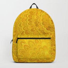 Golden Flower Mandala Backpack