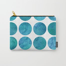 Blue Watercolor Dots Carry-All Pouch