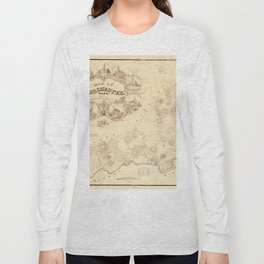 Map Of Dorchester 1850 Long Sleeve T-shirt