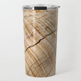 Weathered Wood Grain Travel Mug