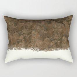 Dipped Wood - Walnut Burl Rectangular Pillow