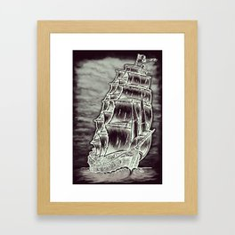 Caleuche Ghost Pirate Ship Variant Framed Art Print