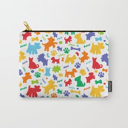 Colorful Dogs Pattern Carry-All Pouch