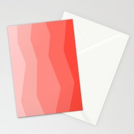Cool Geometric Living Coral Gradient abstract Stationery Cards