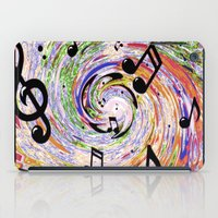 music notes iPad Cases featuring Music Notes by gretzky