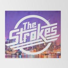 The Strokes Logo New York Night Throw Blanket
