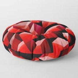 Red Cubes Floor Pillow