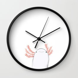 Axolotl Close-Up Wall Clock