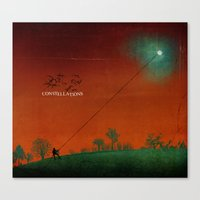 constellations Canvas Prints featuring Constellations by Meliza Celeridad