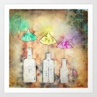 Creative Rain Art Print
