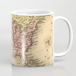 1867 Map of North America Coffee Mug