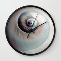 seashell Wall Clocks featuring Seashell by elle moss