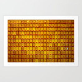 Orange Buddha glass plate Art Print