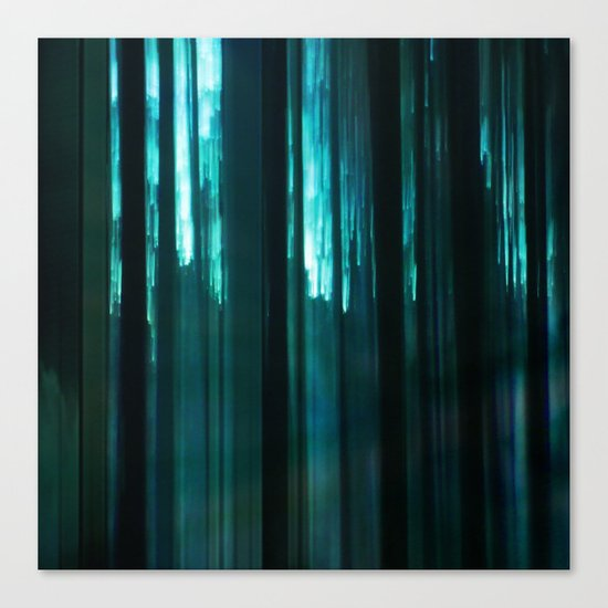 Forest in emerald green Canvas Print