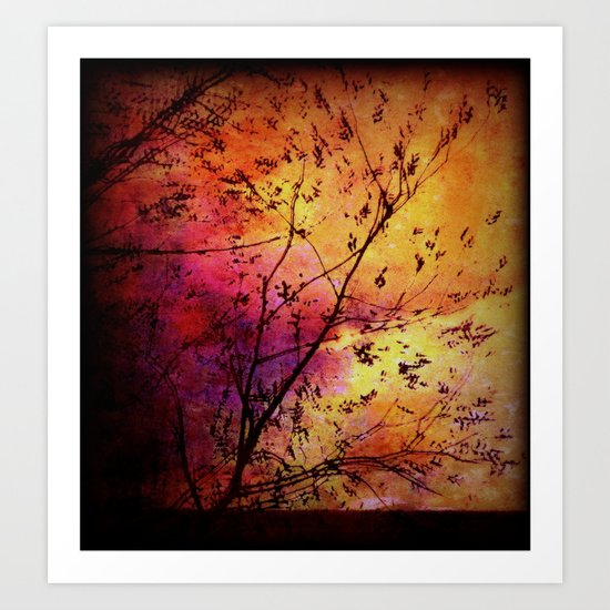 The storm (later that very evening) Art Print