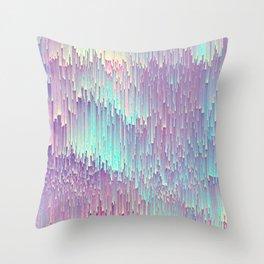 Iridescent Glitches Throw Pillow