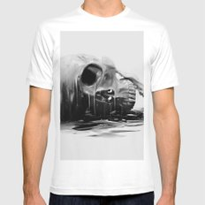 Hereafter White SMALL Mens Fitted Tee