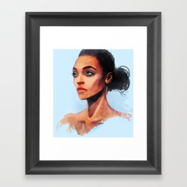 Portrait of a Brown Woman Framed Art Print