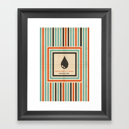 risk Framed Art Print