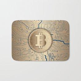 Bitcoin money gold Bath Mat