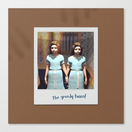The greedy twins! Canvas Print