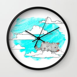 Sky Cat Wall Clock