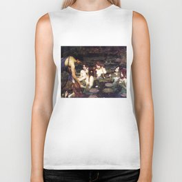Hylas and the Nymphs,  John William Waterhouse Biker Tank