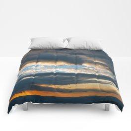 Vibrant Sunrise Cloudscape Comforters