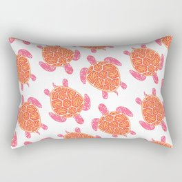 Sea Turtle – Melon Palette Rectangular Pillow
