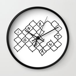 Toca Reja 1/3 Wall Clock
