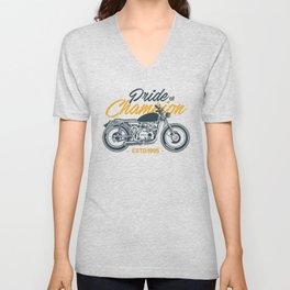 Classic Motorcycle Club Illustration Unisex V-Neck