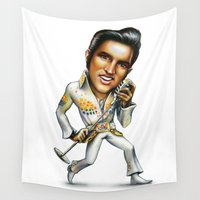 elvis presley Wall Tapestries featuring Elvis Presley by sergo