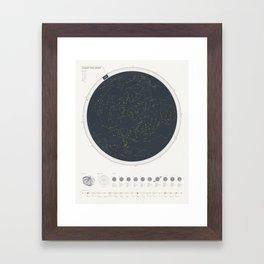 Star Chart Framed Art Print