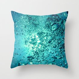 Thirsty Sprite Bubble Throw Pillow