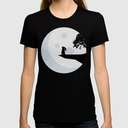 Bunny and Moon Silhouette T-shirt
