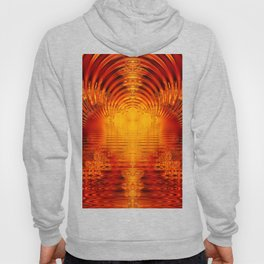 Abstract Fractal Golden Red Tunnel of Light Hoody